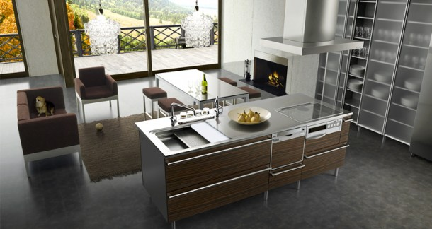spacious Japanese Kitchens Design