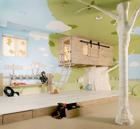 inspirational tree house bedroom