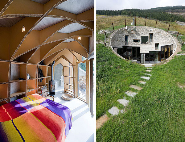 Underground Home Design in  Swiss Mountains