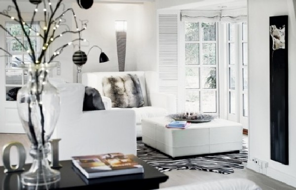 white sofa design of modern Minimalist House In Denmark