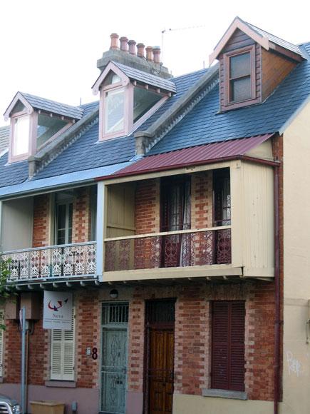 Woolloomooloo house chimneys