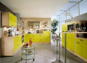 Creative Light Green Color Kitchen