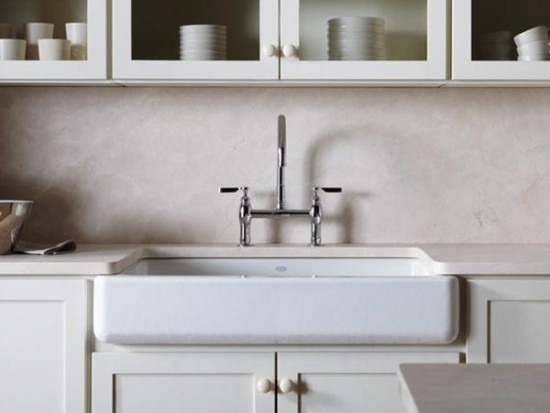 Apron Front Farmhouse Kitchen Sink : The New Apron-Front Kitchen Sinks by KOHLER 3d Architecture ...