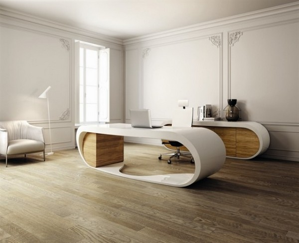 Babini Goggle Desk by Danny Venlet white