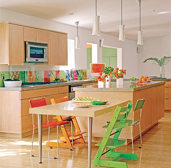 Beautiful Colorful Kitchen Interior Design