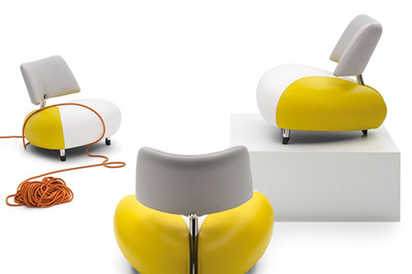 Beautiful leather armchair by leolux-pallone
