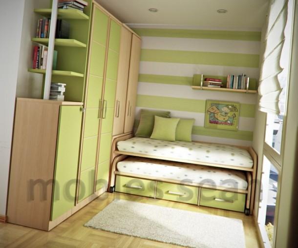 Beech lime green kids room
