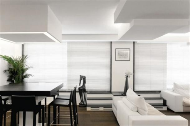 Black and White Apartment Interior Design Dining Room