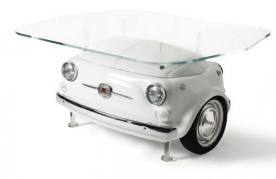 Coffe Table Shaped Retro FIAT Cars