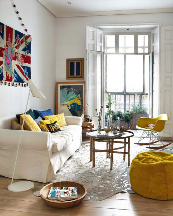 Colorful Apartment Interior Design in Madrid