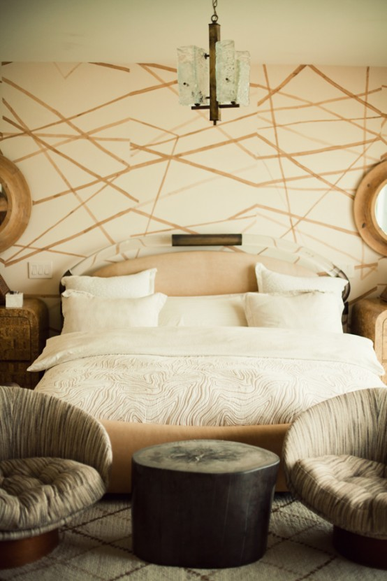 Cool Malibu House of an Interior Designer Bed
