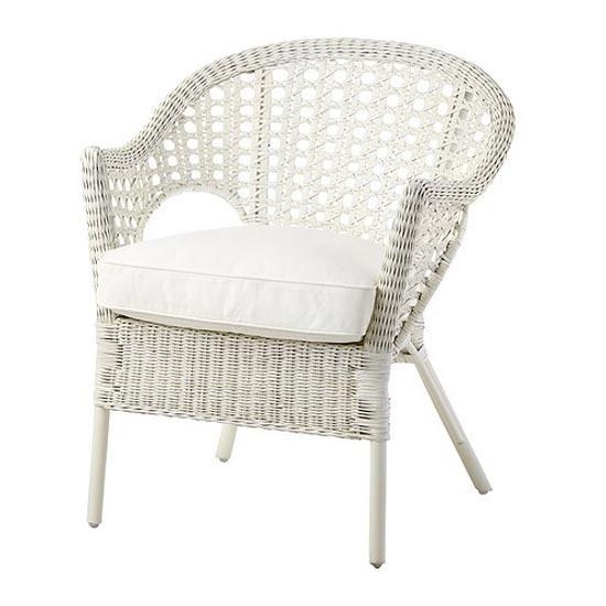 DJUPVIK white Armchair