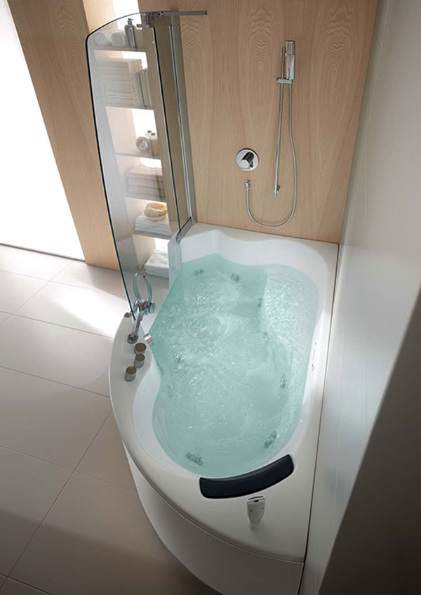 Beautiful Corner Bathtubs Designed by Teuco