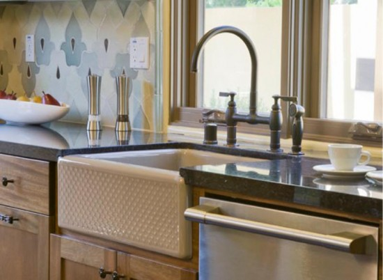 Evenweave Design on Alcott Undercounter Sink Apron-Front Kitchen by KOHLER