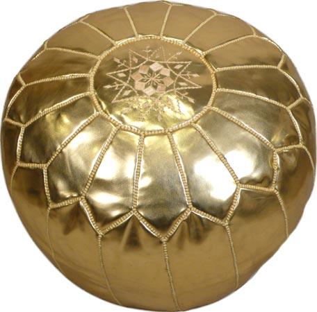 Gold Handmade Moroccan Poufs
