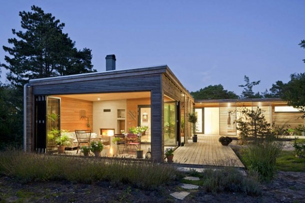 Gorgeous Hakansson Tegman Residence with Wooden Screen Design by Johan Sundberg