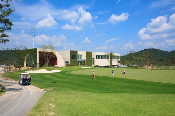 Green Weaving Club House Pool Golf Area