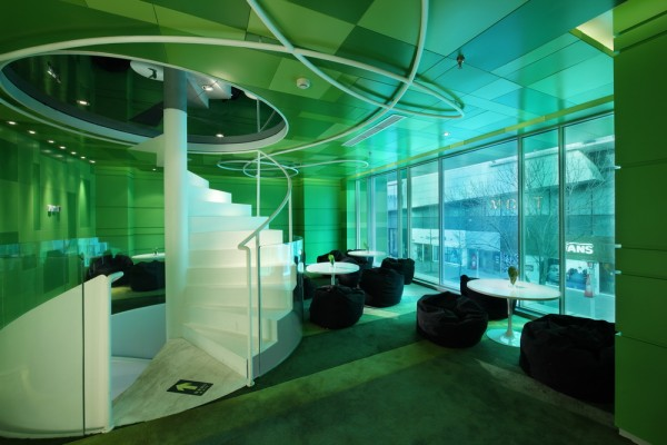 Interior p s restaurant with green concept d