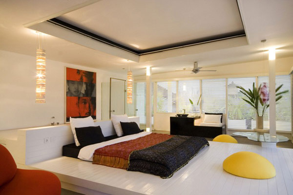 Modern Bedroom at Lovelli Residence in Bali