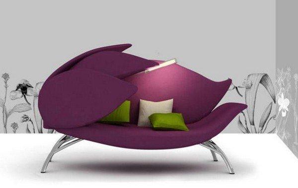 Modern Floral Sofa