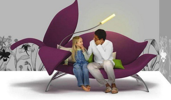Modern Flora Sofa from Moscow designer Albina Basharova