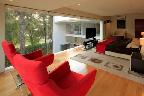 Modern House Bedroom Interior Design in Mexico by Hernandez Silva Arquitectos