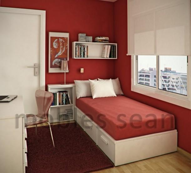 Red white kids room