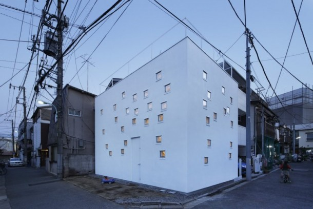 Room Room House by Takeshi Hosaka Architects Render