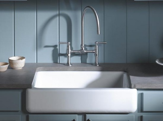 7 Inch Apron Front Sink : The New Apron-Front Kitchen Sinks by KOHLER 3d Architecture ...