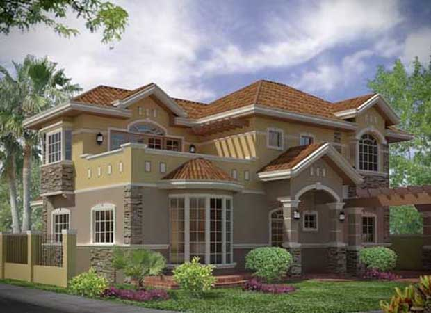 Side view render Beautiful 3D Houses Design