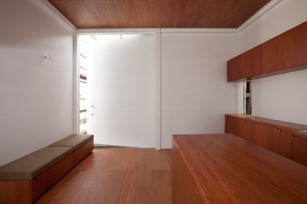 Small House in Tokyo by Unemori Architects  White and Brown Interior