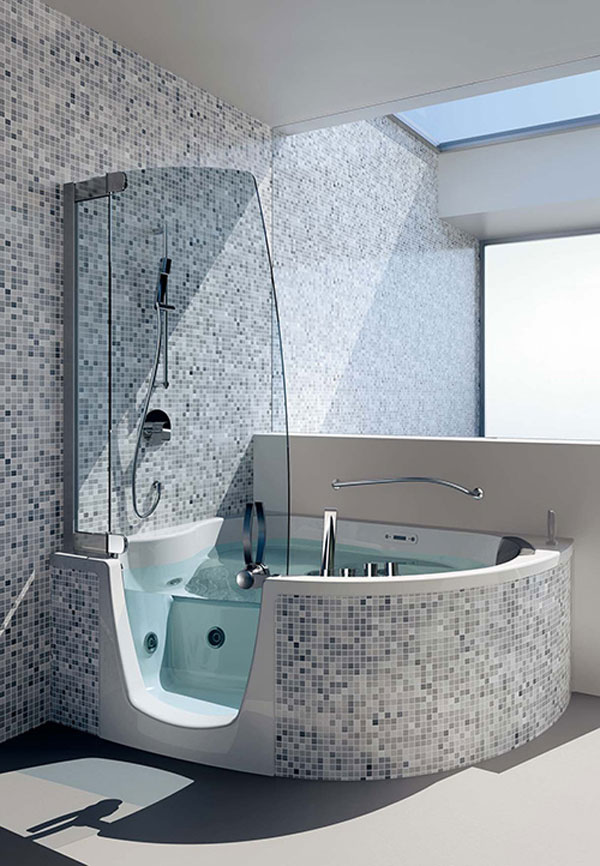Elegant Tub-shower Combination by Teuco