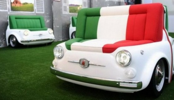Unique Sofa Design - Sofa Shaped Retro FIAT Cars