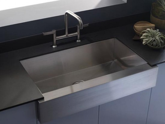 Vault Single Basin Apron-front Kitchen Sink by KOHLER