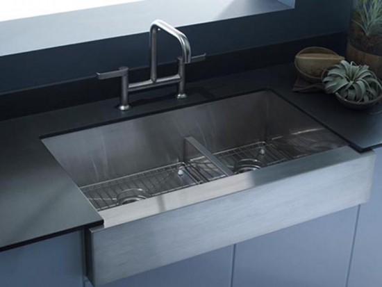 Vault Smart Divide Offset Apron-front Kitchen Sink by KOHLER