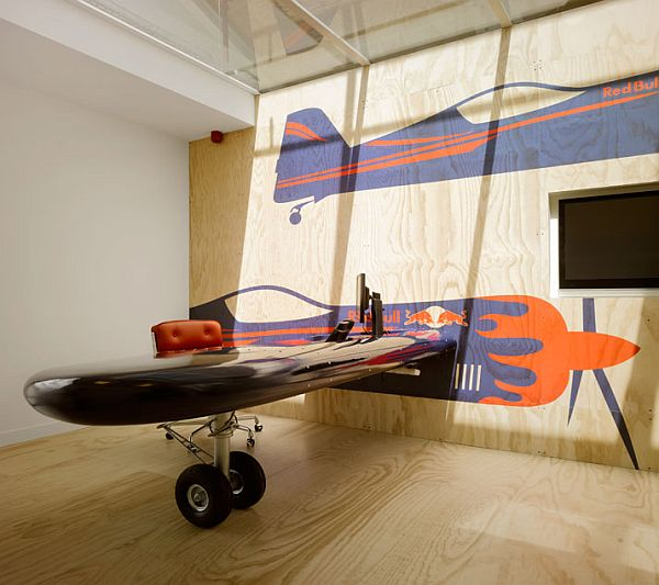 amazing office desk at red bull HQ office design in Amsterdam