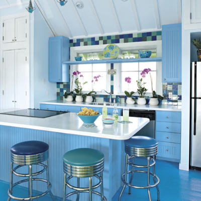 colorful kitchen design with Blue color