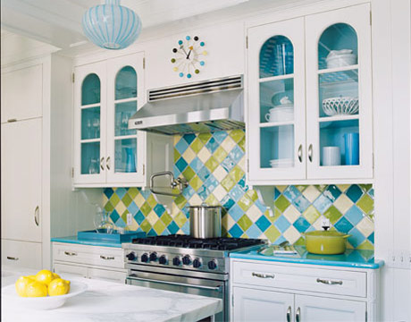 Beautiful photo of a colorful kitchen design
