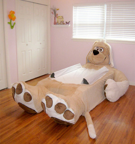 Incredibed dogs bed design for kids