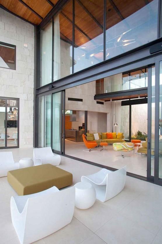 modern deck Bonaire House