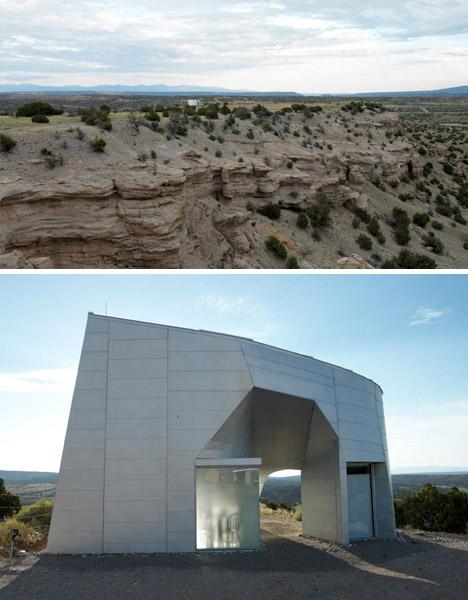modern desert home landscape