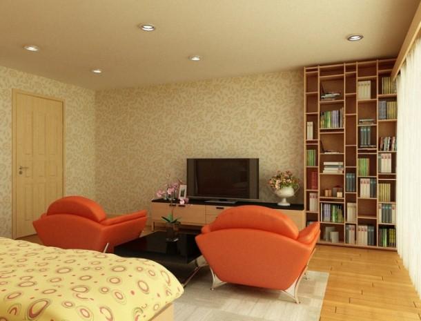 nguyen orange sitting area