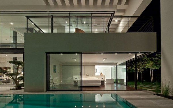 private pool at modern Haifa House