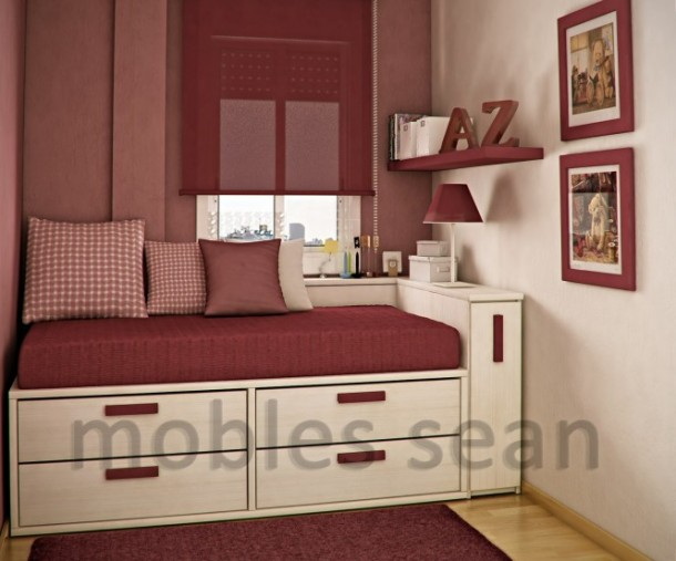 red white small kids room