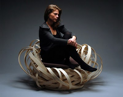 Stylish modern chair by Nina Bruun
