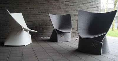 Unusual chair designed by Belgian designers James Van Vossel and Tom de Vrieze