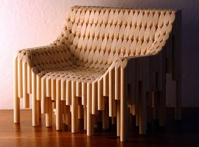 Beautiful and stylish wooden chair designed by Vadim Kibardin