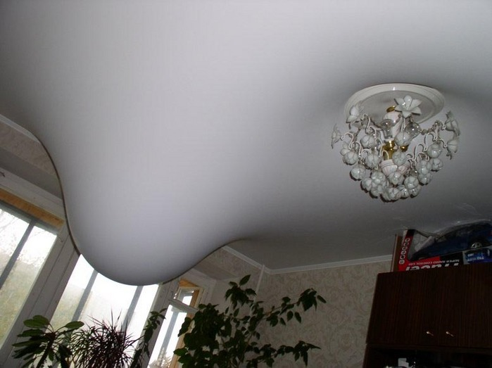 Upstairs Flood Creates 3D Ceiling in Russia