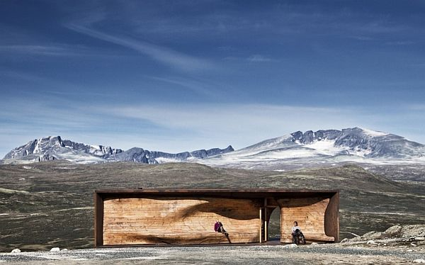 Amazing Norwegian Wild Reindeer Center Pavilion outside view