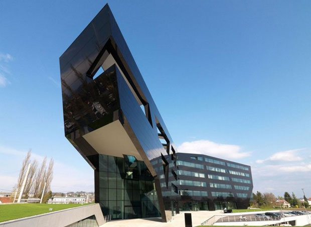 The Black Panther Futuristic Building in Graz, Austria